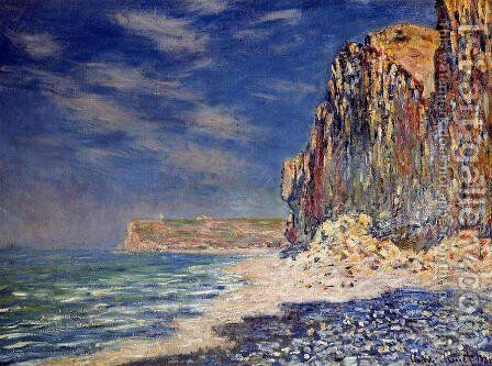 Cliff Near Fecamp by Claude Oscar Monet - Reproduction Oil Painting