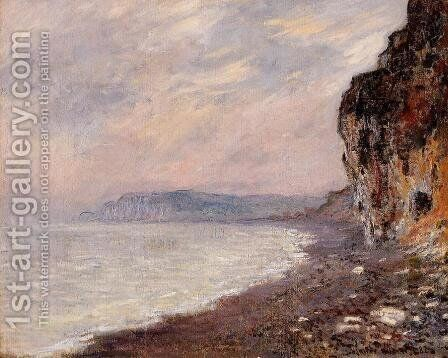 Cliffs At Pourville In The Fog by Claude Oscar Monet - Reproduction Oil Painting