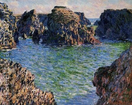 Coming Into Port Goulphar  Belle Ile by Claude Oscar Monet - Reproduction Oil Painting