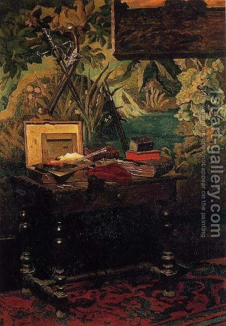 Corner Of A Studio by Claude Oscar Monet - Reproduction Oil Painting
