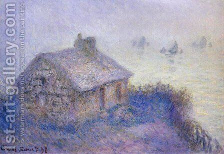 Customs House At Varengeville In The Fog Aka Blue Effect by Claude Oscar Monet - Reproduction Oil Painting
