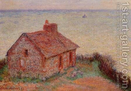 Customs House  Rose Effect by Claude Oscar Monet - Reproduction Oil Painting