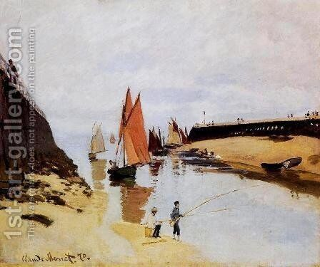Entrance To The Port Of Trouville by Claude Oscar Monet - Reproduction Oil Painting