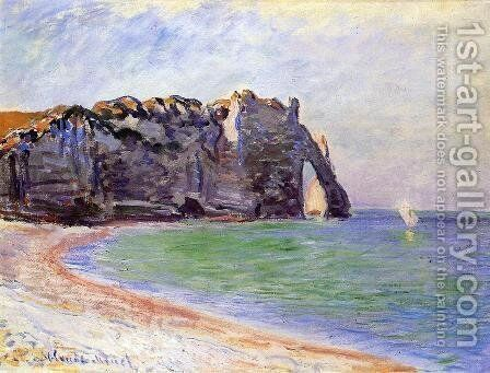 Etretat  The Porte D Aval by Claude Oscar Monet - Reproduction Oil Painting