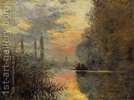 Evening At Argenteuil by Claude Oscar Monet - Reproduction Oil Painting