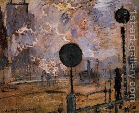 Exterior Of Saint Lazare Station Aka The Signal by Claude Oscar Monet - Reproduction Oil Painting