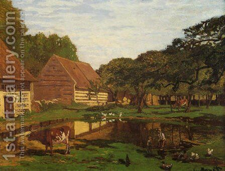Farmyard In Normandy by Claude Oscar Monet - Reproduction Oil Painting