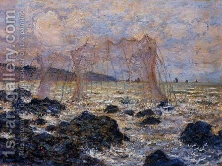 Fishing Nets At Pourville by Claude Oscar Monet - Reproduction Oil Painting