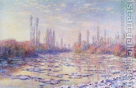 Floating Ice by Claude Oscar Monet - Reproduction Oil Painting