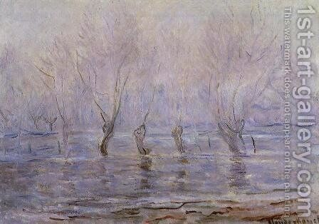 Flood At Giverny by Claude Oscar Monet - Reproduction Oil Painting