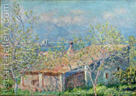 Gardeners House At Antibes by Claude Oscar Monet - Reproduction Oil Painting