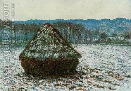 Grainstack by Claude Oscar Monet - Reproduction Oil Painting