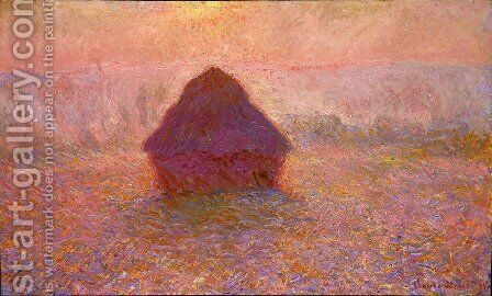 Grainstack  Sun In The Mist by Claude Oscar Monet - Reproduction Oil Painting