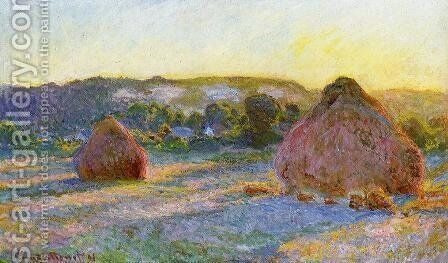 Grainstacks At The End Of Summer  Evening Effect by Claude Oscar Monet - Reproduction Oil Painting