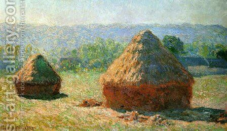 Grainstacks At The End Of Summer  Morning Effect by Claude Oscar Monet - Reproduction Oil Painting