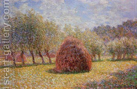 Haystacks At Giverny2 by Claude Oscar Monet - Reproduction Oil Painting