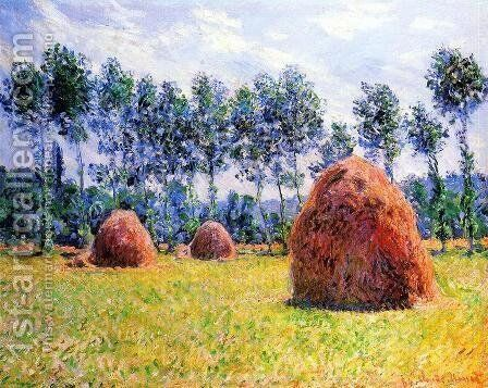 Haystacks At Giverny3 by Claude Oscar Monet - Reproduction Oil Painting