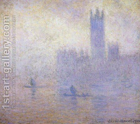 Houses Of Parliament  Fog Effect by Claude Oscar Monet - Reproduction Oil Painting
