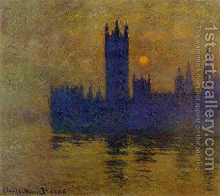 Houses Of Parliament  Sunset2 by Claude Oscar Monet - Reproduction Oil Painting