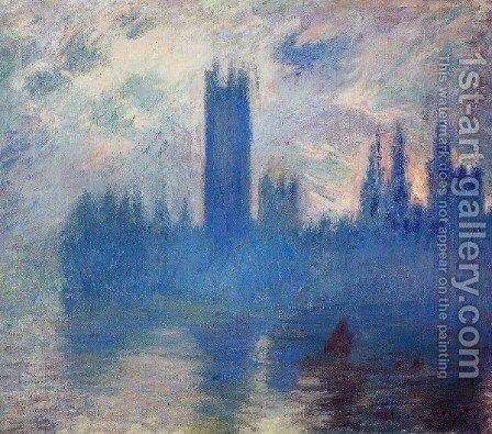 Houses Of Parliament  Westminster by Claude Oscar Monet - Reproduction Oil Painting