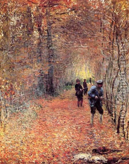 Hunting Aka The Shoot by Claude Oscar Monet - Reproduction Oil Painting