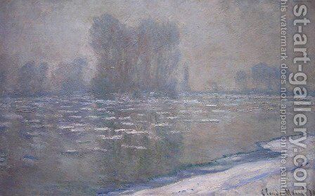 Ice Floes  Misty Morning by Claude Oscar Monet - Reproduction Oil Painting