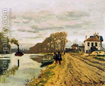 Infantry Guards Wandering Along The River by Claude Oscar Monet - Reproduction Oil Painting