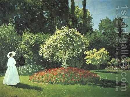 Jeanne Marguerite Lecadre In The Garden by Claude Oscar Monet - Reproduction Oil Painting
