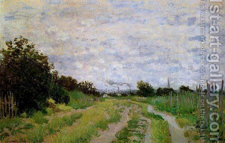 Lane In The Vineyards At Argenteuil by Claude Oscar Monet - Reproduction Oil Painting