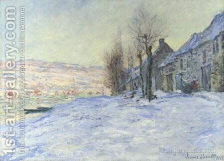 Lavacourt  Sun And Snow by Claude Oscar Monet - Reproduction Oil Painting