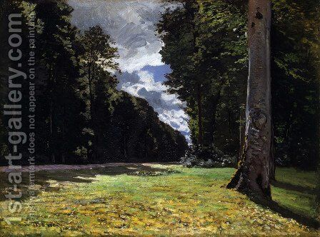 Le Pave De Chailly In The Fontainbleau Forest by Claude Oscar Monet - Reproduction Oil Painting