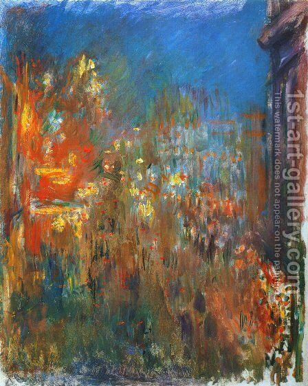 Leicester Square At Night by Claude Oscar Monet - Reproduction Oil Painting
