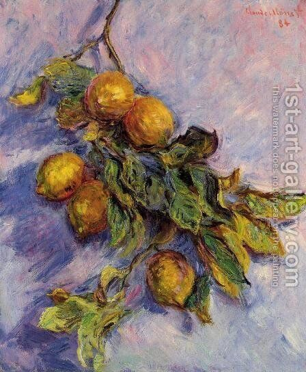 Lemons On A Branch by Claude Oscar Monet - Reproduction Oil Painting