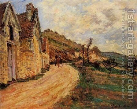 Les Roches At Falaise Near Giverny by Claude Oscar Monet - Reproduction Oil Painting