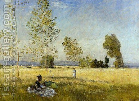 Meadow At Bezons by Claude Oscar Monet - Reproduction Oil Painting
