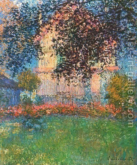 Monets House In Argenteuil by Claude Oscar Monet - Reproduction Oil Painting