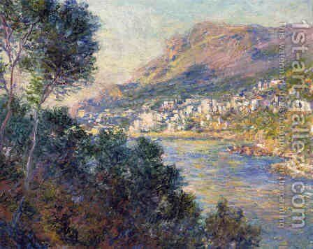 Monte Carlo Seen From Roquebrune by Claude Oscar Monet - Reproduction Oil Painting