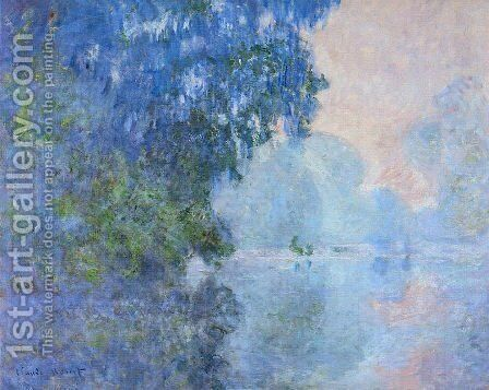 Morning On The Seine2 by Claude Oscar Monet - Reproduction Oil Painting