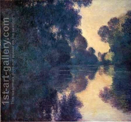 Morning On The Seine  Clear Weather by Claude Oscar Monet - Reproduction Oil Painting