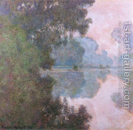 Morning On The Seine  Near Giverny by Claude Oscar Monet - Reproduction Oil Painting