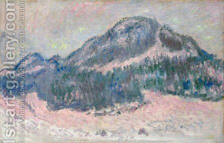 Mount Kolsaas  Rose Reflection by Claude Oscar Monet - Reproduction Oil Painting
