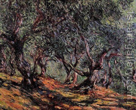 Olive Trees In Bordighera by Claude Oscar Monet - Reproduction Oil Painting