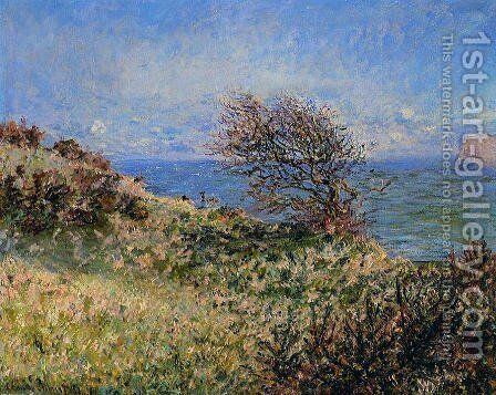 On The Cliff At Fecamp by Claude Oscar Monet - Reproduction Oil Painting