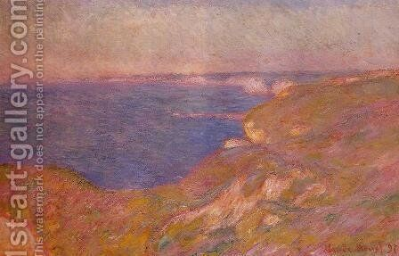 On The Cliff Near Dieppe by Claude Oscar Monet - Reproduction Oil Painting