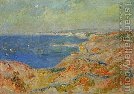 On The Cliff Near Dieppe2 by Claude Oscar Monet - Reproduction Oil Painting