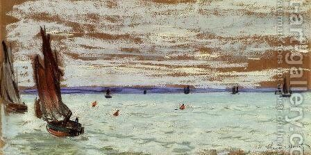 Open Sea by Claude Oscar Monet - Reproduction Oil Painting