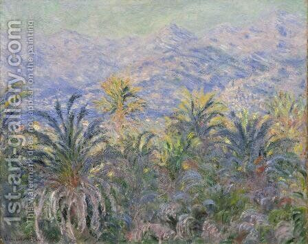 Palm Trees At Bordighera by Claude Oscar Monet - Reproduction Oil Painting
