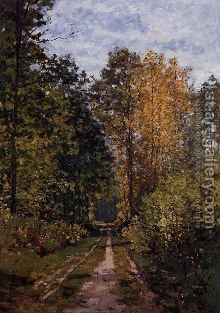 Path In The Forest by Claude Oscar Monet - Reproduction Oil Painting