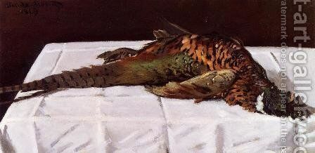 Pheasant by Claude Oscar Monet - Reproduction Oil Painting