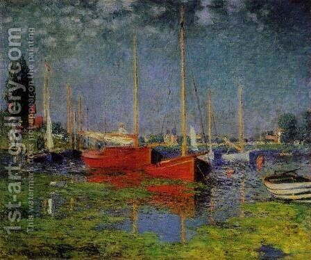 Pleasure Boats At Argenteuil by Claude Oscar Monet - Reproduction Oil Painting